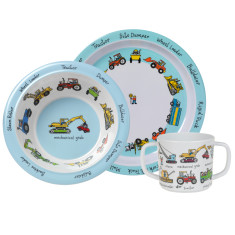Tyrrell Katz Working Wheels Dinner Set with Training Cup