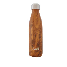 S'well insulated stainless steel bottle in Wood Teakwood