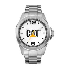CAT Icon series in Stainless steel with white CAT logo face