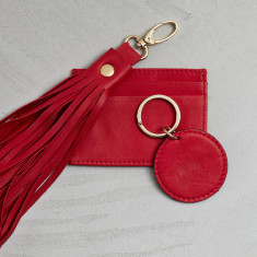 Leather tassel gift set