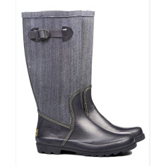 Erin denim rubber wellies