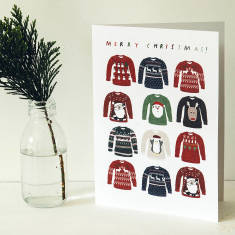 Christmas jumpers greeting cards (pack of 5)