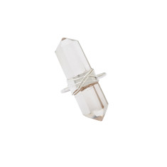 Double point clear crystal ring