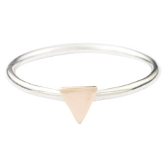 Gold triangle stackable ring