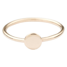 Solid-gold circle stackable ring