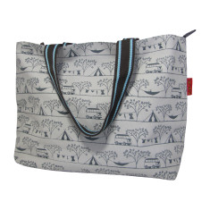Tamelia cotton canvas Camping tote bag