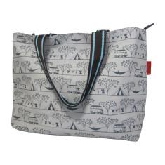 Tamelia cotton canvas Camping tote bag