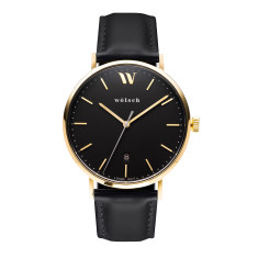 Versa 40 Watch In Gold with Black Band
