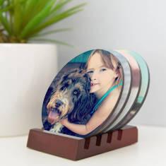 Personalised Pet Photo Coaster Set