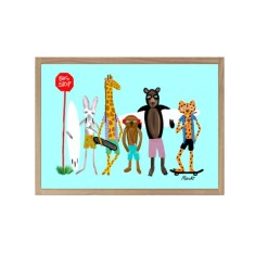 The Bus Stop Giclee print