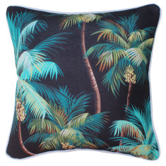 Outdoor cushion in black palm trees (various sizes)
