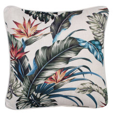 Outdoor cushion in tropical paradise natural (various sizes available)
