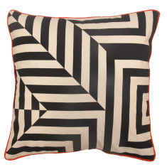 Escher stripes cushion