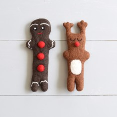 Christmas reindeer and gingerbread toy