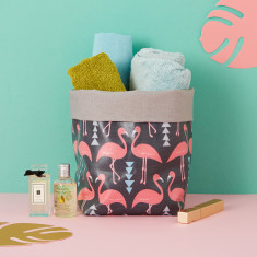 Flamingo Flourish storage bucket