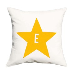 Star personalised cushion cover (various colours)
