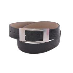Luxury black croc ladies suede lined leather belt