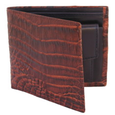 Men's leather coin pocket wallet