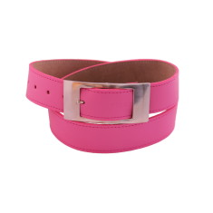 Luxury pink ladies suede lined leather belt