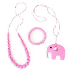 Softies double necklace and bangle matching set