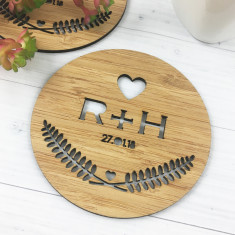 Set of 2 Personalised Love Initial Coasters