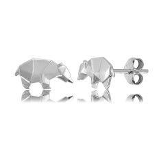 Bear Origami Stud Earrings