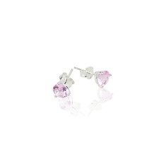 October birthstone sterling silver stud earrings