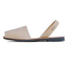 Morell leather sandals in beige
