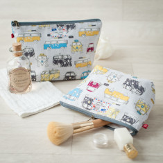VW Campervan Camper Makeup Toiletry Wash Bag
