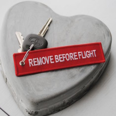 Remove Before Flight Key Ring