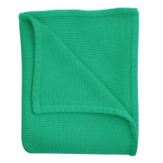 Wave knit luxury cotton baby blanket in vine