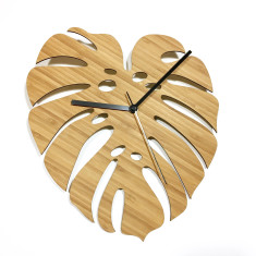 Monstera Bamboo Clock