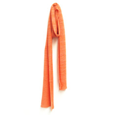 Lightweight skinny cotton scarf in stone or coral