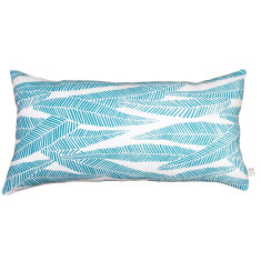 Eucalyptus long cushion cover in turquoise