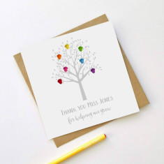 Personalised acorn tree teacher card