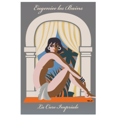 Eugeniee Les Bains vintage poster