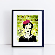 flying frida fine art giclee print