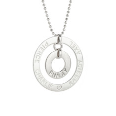 Eunice personalised sterilng silver pendant