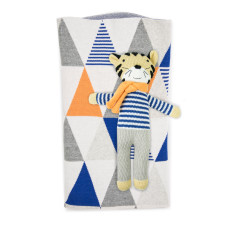 Weegoamigo Toothless Tiger Knitted Toy & Blanket
