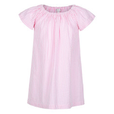 Girl's Seersucker Nightie in Pink