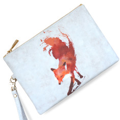 Vulpes Fox Vegan Leather Pouch Clutch Bag