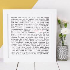 I love you typographic print