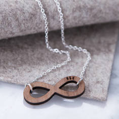 Personalised Initials Infinity Necklace