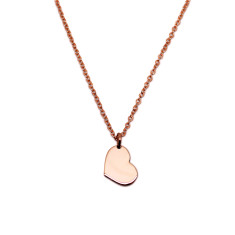 Little Heart 9ct Rose or Yellow Gold Necklace