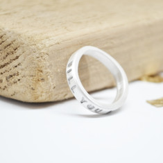 Personalised Sterling Silver Message Ring