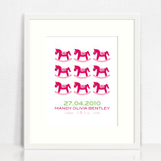 Girls' repetition personalised birth prints