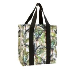 Market Bag in Green Palm print