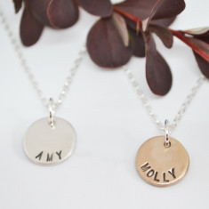 Personalised Solid Coin Necklace
