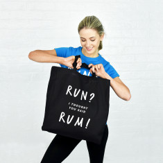 Run rum gym tote bag