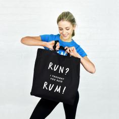 Run rum gym tote bag